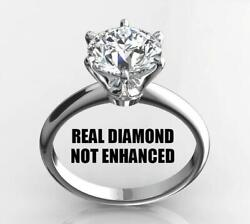 1.25 CT REAL NATURAL DIAMOND ENGAGEMENT RING ROUND CUT E SI1 14K WHITE GOLD