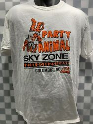 Party Animal Sky Zone Columbia MO T Shirt Size L $5.85