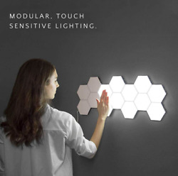 Background Wall Living Room Atmosphere Wall Lamp Quantum Light Honey comb Lamp $43.69