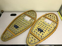 Vintage Wooden Snowshoes FREETRAIL Brand Made in Canada 14 x 30 $35.65