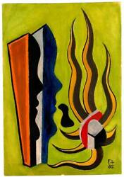 Fernand Leger Guache on Paper Signed
