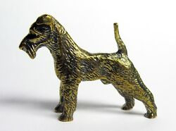 Kerry Blue Terrier-a miniature statuette of bronzemetal figurinewelsh terrier
