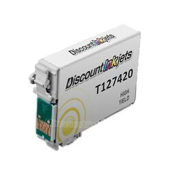 Reman Ink Cartridge HY Yellow for Epson 127420 T127 Workforce 635 645 840 845 $6.99