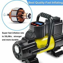 Heavy Duty Portable Air Compressor Car Tire Inflator Electric Pump Auto 12V $33.99