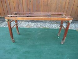 Antique Wood Wash Tub Stand Bench Rack BEATTY BROS 1923 Folds Up