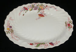 VINTAGE COPELAND SPODE FAIRY DELL PATTERN CHINA OVAL SERVING PLATTER