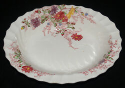 VINTAGE COPELAND SPODE FAIRY DELL PATTERN CHINA OVAL SERVING BOWL