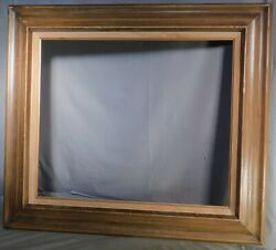 Vintage Mid Century Modern Picture Frame 20x24 faux Worm Wood Brutalist Ogee 60s $69.00
