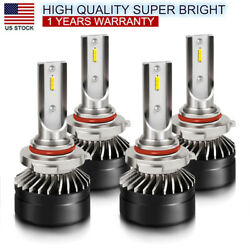 9005 9006 Combo LED Headlights High Low Beam 6500K White Light 120W 26400LM HID