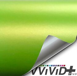 VViViD+ Matte Metallic Lime Green Premium Vinyl Wrap Film (100ft x 5ft)