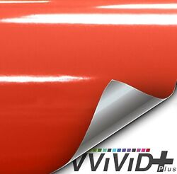 VViViD+ Premium Vinyl Wrap Film (100ft x 5ft Gloss Arancio Argos Red Orange)