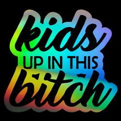 2PCS Car Sticker Window Vinyl Laptop Home Wall Kids UP IN THIS bitch Truck Decal $2.29