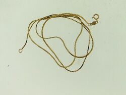 BEAUTIFUL 14KT YELLOW GOLD 20-INCH SNAKE CHAIN NECKLACE
