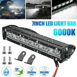 7#x27;#x27; 18W Spot LED Light Work Bar Lamp Driving Fog Offroad SUV 4WD Car Boat Truck