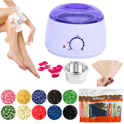 Wax Warmer Heater Pot Machine Hair Removal Kit 300g Waxing Beans 10 Sticks USA