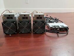 Three Antminer L3+ Full Set-up w PSU + C14 Power Cords - (Free Shipping)