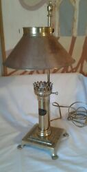 Vtg Brass PARIS ORIENT EXPRESS ISTANBUL Table Lamp CLAW Feet Adjustable Shade $10.00