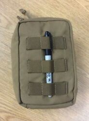 GENUINE MODULAR TACTICAL TAYLOR COYOTE BROWN ZIPPERED UTILITY POUCH USGI MOLLE $14.95