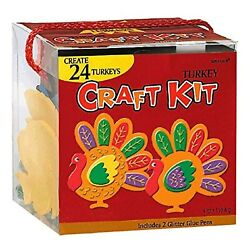 Thanksgiving Party Turkey Craft Kit  Makes Up To 24 Turkeys  Party Activity