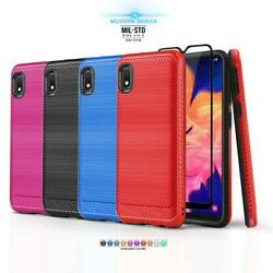 for SAMSUNG GALAXY A10E [Modern Series] Phone Case Slim Cover +Tempered Glass