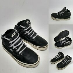 VANS OFF THE WALL BOYS BLACK HIGH TOPS SIZE 12 YOUTH $11.16