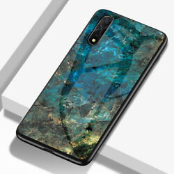 Fits Honor 9X  9X Pro Ultra-thin Case Marble Tempered Glass Hybird Back Cover