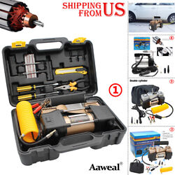 12V Car Tire Pump HEAVY DUTY Portable Air Compressor AIR Inflator Auto 150 PSI $39.88