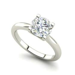 4 claw Solitaire 2 Carat VS1F Round Cut Diamond Engagement Ring White Gold