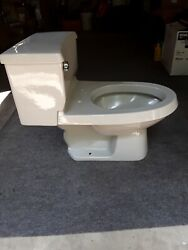 VINTAGE 1987 GERGER ICE GREY LOW BOY ELONGATED TOILET