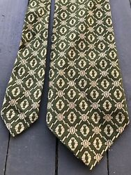 """Vintage Sears Wide Textured Polyester Necktie 4"""" Made In USA $14.00"""