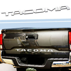 3D Raised Tailgate Insert Letters Emblem Fit 2014-2019 Toyota Tacoma-Chrome