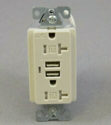 (Lot of 1000) COOPER WIRING  TR-RECEPTACLE USB CHARGER 20A--125v LIGHT ALMOND