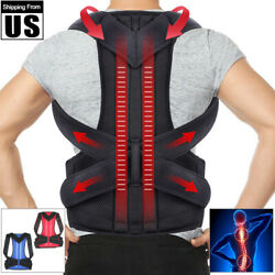 Back Posture Correction Shoulder Corrector Support Brace Belt Therapy Men Women $9.99