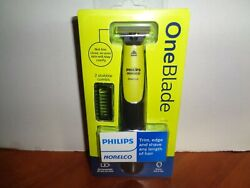 Philips Norelco OneBlade Hybrid Wet Dry Electric Trimmer Shaver w 2 Combs Sealed