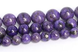 Natural Deep Purple Charoite Beads Grade A Round Loose Beads 46810MM $6.55