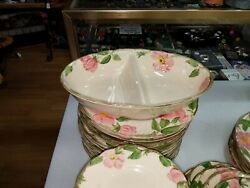 Franciscan Desert Rose (2) Section Side Serving Dish U.S.A Mark very nice
