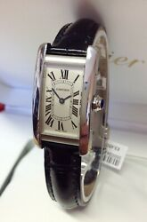 Cartier Tank Americaine WSTA0016 19mm BOX AND PAPERS 2019 UNWORN