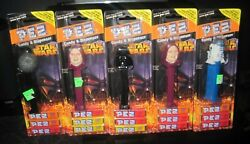5 star wars pez candy dispensers death star R2D2 Dark Vader emperor sealed new $24.95