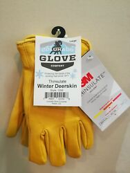 Colorado Glove Company INSULATED Winter Lined Deerskin Work Gloves Leather 1295 $34.99