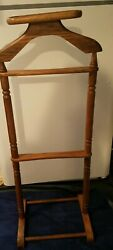 Wood Valet Butler Suit Coat Stand with Tray gorgeous
