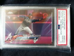 2018 Topps Chrome Update Ronald Acuna Jr. PINK REFRACTOR PSA 10 ROOKIE  CARD RC