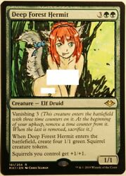 Deep Forest Hermit X1 Hand Painted Art Alter MTG Magic Sexy Anime Girl Elf