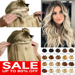 THICK One Piece Clip in Human Hair Extensions 100% Remy Hair 34 Full Head P461