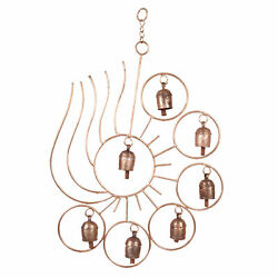 Sun Pattern Hanging Wind Garden Bell Chimes Indoor Outdoor Sound Chimes