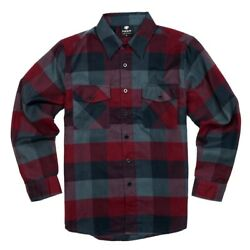 YAGO Men#x27;s Casual Plaid Flannel Long Sleeve Button Up Shirt Wine 5 S 5XL $27.99