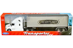 Freightliner Cascadia Semi Truck Trailer Container Diecast 1:32 Welly 22in WHITE