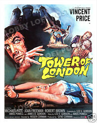 TOWER OF LONDON LOBBY CARD POSTER OSGER 1962 VINCENT PRICE as KING RICHARD III