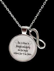 Christian Necklace Proverbs 31:25 She Is Clothed In Strength Bible Jewelry