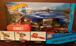 Hot Wheels City Super S.W.A.T. Copter Playset with Vehicle Car Included NEW $8.99