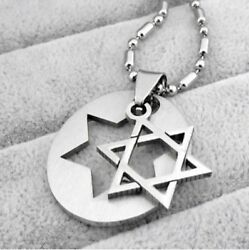 Star (Magen) of David - Israel Jewish Rock Necklace Pendant Stainless Steel